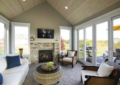 Lake Elmo Custom Zawadski Home Sunroom