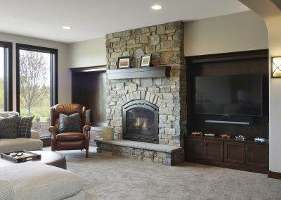 Lake Elmo Custom Zawadski Home Fireplace